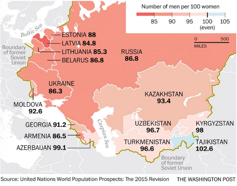 Cartina Urss.Come Sono Distribuiti Uomini E Donne Nel Mondo Il Post