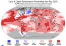 Agosto 2015 è stato il mese più caldo mai registrato, dicono i dati della NOAA