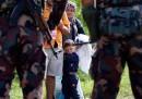 Le foto dei migranti bloccati tra Serbia e Ungheria