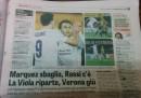 Il titolo allusivo della Gazzetta dello Sport su Verona-Fiorentina