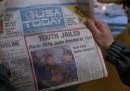 """La prima pagina di USA Today per celebrare il """"Ritorno al Futuro Day"""""""