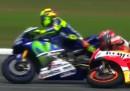 Il video del sorpasso di Valentino Rossi che fa cadere Marc Marquez