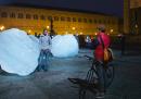 Le sculture di ghiaccio di Olafur Eliasson a Parigi