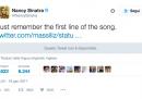 I tweet di Nancy Sinatra contro Trump
