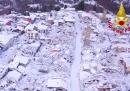 Il video di Amatrice e Accumoli coperte di neve