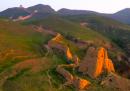 La Grande Muraglia cinese vista da un drone