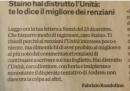 Fabrizio Rondolino e Sergio Staino litigano ancora, sull'Unità