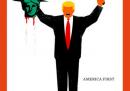 """La discussa copertina dello """"Spiegel"""" con la Statua della Libertà decapitata da Trump"""