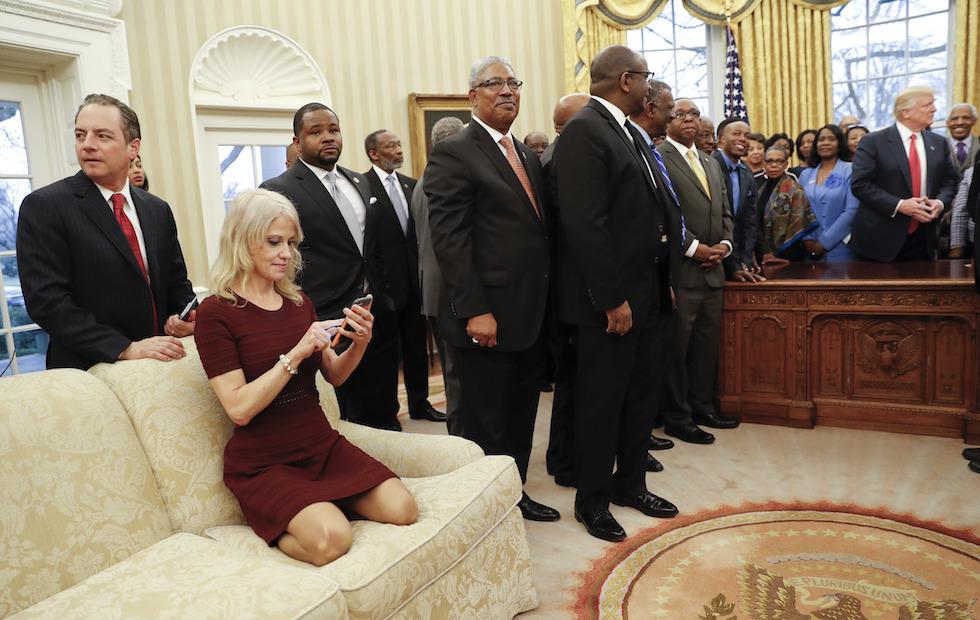 Donald Trump,Reince Preibus,Kellyanne Conway