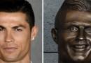 La statua di Cristiano Ronaldo che non gli somiglia per niente