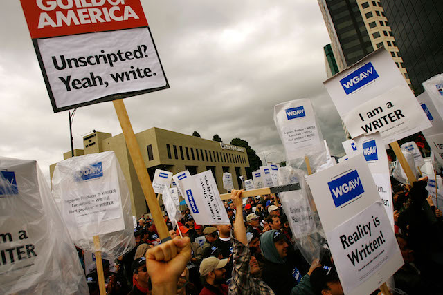 Writers Guild Pickets In Support Of Reality TV Writers