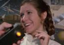 """Il tributo a Carrie Fisher diffuso per i 40 anni dal primo """"Star Wars"""""""