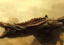 """Il drago di """"Game of Thrones"""" è cresciutello"""