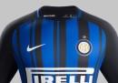 La nuova maglia dell'Inter per la stagione 2017/2018