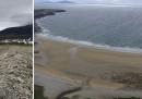 Su un'isola irlandese dove la spiaggia era sparita, ora la spiaggia è ritornata
