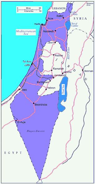I territori di Israele dal 1948 al 1967