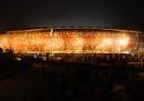 Almeno due persone sono morte durante una partita di calcio in Sudafrica, probabilmente schiacciate dalla folla