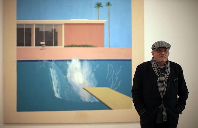David Hockney Visits The New Nottingham Contemporary Gallery