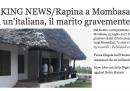 Una donna italiana di 71 anni è stata uccisa in Kenya durante una rapina
