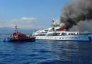Lo yacht dell'imprenditrice Diana Bracco ha preso fuoco al largo di Nizza: non ci sono feriti
