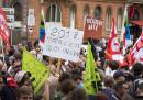 Oggi ci sarà il primo sciopero contro Macron e la sua riforma del lavoro