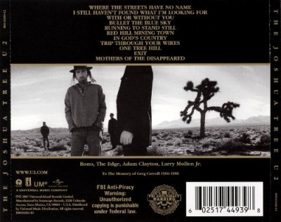The Joshua Tree (1987) comincia coi tre singoli: Where the Streets, I Still Haven't Found e With or Without You.