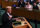 Trump ha minacciato di distruggere la Corea del Nord, nel suo primo discorso all'ONU