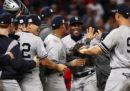 Le finali di lega della Major League Baseball iniziano stanotte