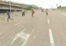 Alla Maratona di Venezia sei corridori si sono giocati la vittoria sbagliando strada