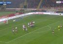 Simone Verdi del Bologna ha segnato due gol su punizione nella stessa partita, ma con due piedi diversi