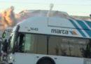 Il grande photobomb di un autobus ad Atlanta