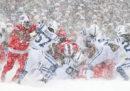 Il football americano sotto la neve