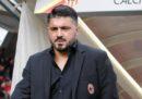 La prima partita di Gattuso da allenatore del Milan