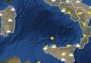 Le previsioni meteo di mercoledì 20 dicembre