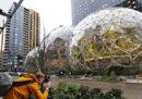 Amazon ha costruito tre sfere giganti a Seattle
