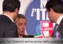 Il video in cui Meloni e Salvini discutono fra di loro del voto di domenica