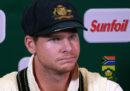 Steve Smith, capitano della Nazionale australiana di cricket, è stato sospeso un anno per la manomissione della palla nella partita contro il Sudafrica