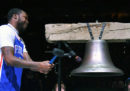 La prima apparizione in pubblico del rapper Meek Mill dopo la scarcerazione