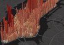 Come aumenta e diminuisce la gente a Manhattan, in una GIF