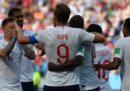 L'Inghilterra ha battuto 6-1 Panama e si è qualificata agli ottavi di finale dei Mondiali