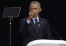 Barack Obama ha parlato a una cerimonia per Nelson Mandela, e ha citato la nazionale francese di calcio