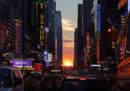 """Le solite bellissime foto del """"Manhattanhenge"""""""