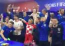 I festeggiamenti della Croazia ai Mondiali con la presidente Kolinda Grabar-Kitarovic