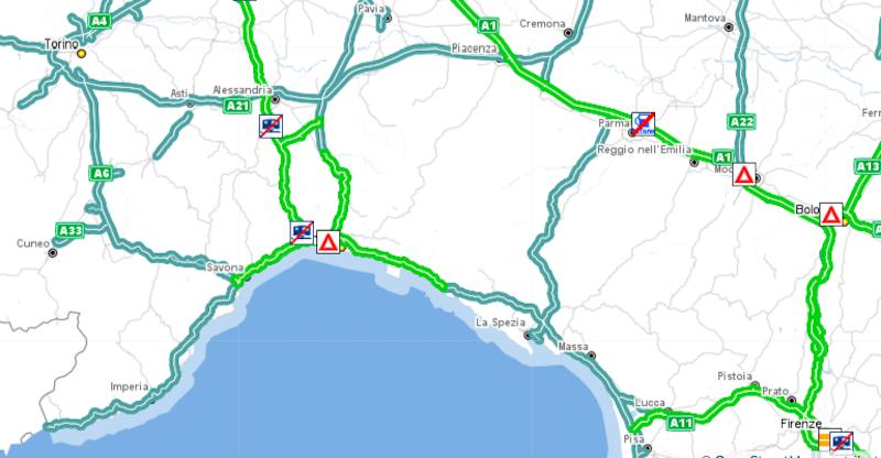Italia Cartina Autostradale.Il Traffico Per Genova In Macchina Il Post