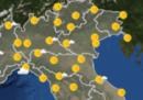 Le previsioni meteo per martedì 25 settembre