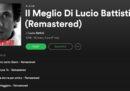 """Il disco """"Il meglio di Lucio Battisti"""" è sparito da Spotify"""