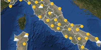 Le previsioni meteo per sabato 29 settembre