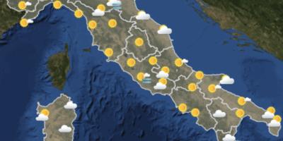 Le previsioni meteo per martedì 9 ottobre