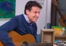 La foto falsa di Giuseppe Conte che fa finta di suonare la chitarra