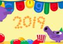«Buon anno», gli auguri di Google per il 2019
